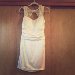 Cream keyhole back dress